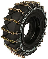 10x16.5 Skid Steer Tire Chains 8mm Square 2-link Spacing Bobcat Traction