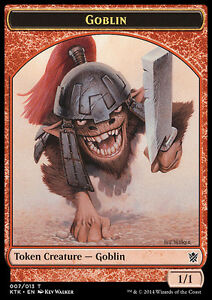 # 7 Goblin Token x4 NM    Magic the Gathering    MTG Khans of Tarkir