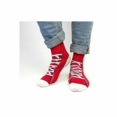 COCKNEY Spaniel Baskets Rouges Red /& White Shoe Design UK 6-11 Paire Hommes Chaussettes Cadeau