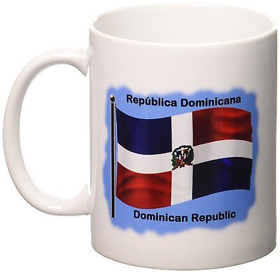 Cup Christmas Mug Gift Dominican Republic Flag Tea Birthday Coffee
