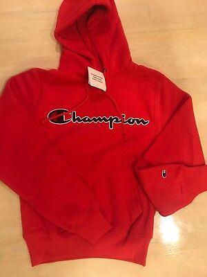 "New Black Champion Sweatshirt  Reverse Weave  /""Champion/"" LOGO Heavyweight"