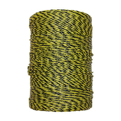 Electric Fence Polywire Trident Yellow Black 1312/'