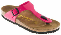Birkenstock Gizeh Birko-flor Cork Thong Sandals - Pink Patent (art: 845601)