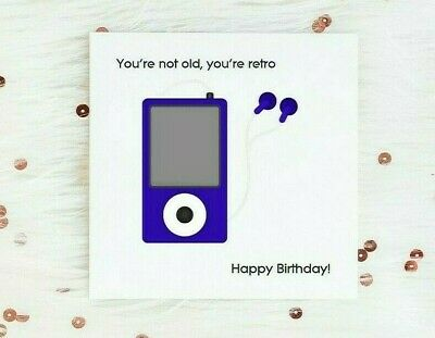 Funny Birthday Card For Men Dad Brother Music Theme Not Old Retro Male Humour
