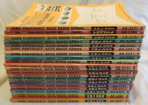 Sams-Photofact-Auto-Radio-Lot-9-of-books-207-227-assortment
