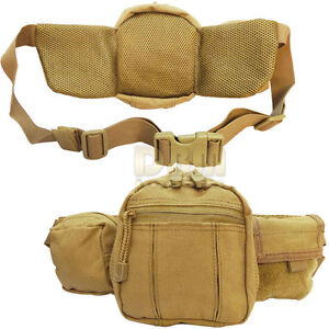 TAN Molle Fanny Pack Bag Pistol Gun Pouch Case Carrier Holster Holder Brand New