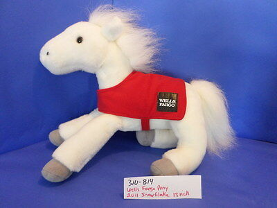 310-814 Wells Fargo Pony 2011 Snowflake Plush, Stuffed Animals