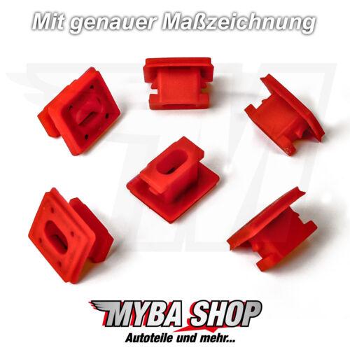 15x BMW 3er 7er X3 Befestigung Zierleiste Klemme Armaturenbrett 51458266814 Rot