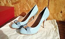 Salvatore Ferragamo - Tina Bow High Heel Platform Size: 9 B NEW WITH BOX