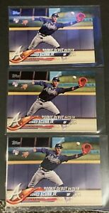2018-TOPPS-UPDATE-US252-RONALD-ACUNA-JR-ROOKIE-RC-ATLANTA-BRAVES-LOT-OF-3