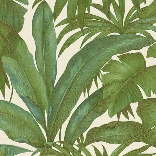 Versace Designer Green Palm Leaf Wallpaper Extra Wide Paste the Wall Vinyl