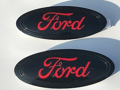 7//9/'/' For F150 Front Rear Tailgate Emblem Grille Oval Decal Badge Nameplate