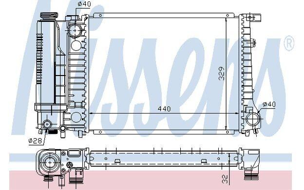 NISSENS Radiador, refrigeración del motor BMW Serie 3 5 60735A