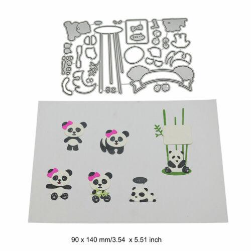 Apron Cutting Dies Metal Stencil DIY Scrapbooking Album Card Panda Animal Art