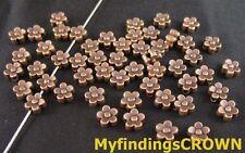 240PCS Antiqued gold 5-leaf flower spacer beads 6mm FC71