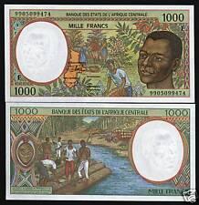 3 Pcs SET,500 1000 2000 FRANCS,1999,UNC,P-301Ff-302Ff-303Ff Central African Rep