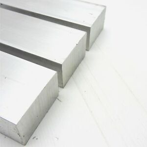 """2 Pieces 1-3//4/""""x 1-3//4/"""" ALUMINUM SQUARE 6061 FLAT BAR 5.5/"""" LONG SOLID Mill Stock"""