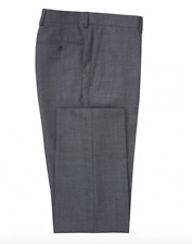 New Chester Barrie Sharkskin Suit Trousers Grey Sz W38R RRP-£125.00