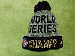World Series Champs Chicago Cubs Beanie Hat Cap New Era New With ... 26bf54500fc