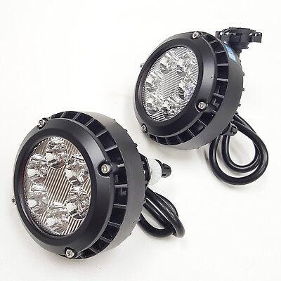 LEDIN For 2007-2014 Yukon Avalanche Tahoe Suburban LED Clear Lens Fog Driving Lights Lamps Pair
