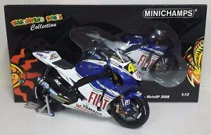 MINICHAMPS-VALENTINO-ROSSI-1-12-YAMAHA-MOTOGP-2008-WORLD-CHAMPION-L-E-RARE-NEW