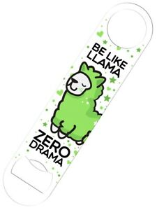 Bottle-Opener-Be-Like-Llama-Zero-Drama-Bar-Blade-18x4cm