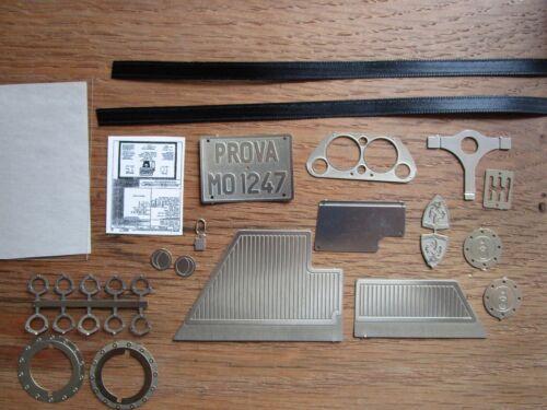 Chassis Pocher 1//8 Ferrari F40 Metal Detail Transkit Upgrade Kit Interior