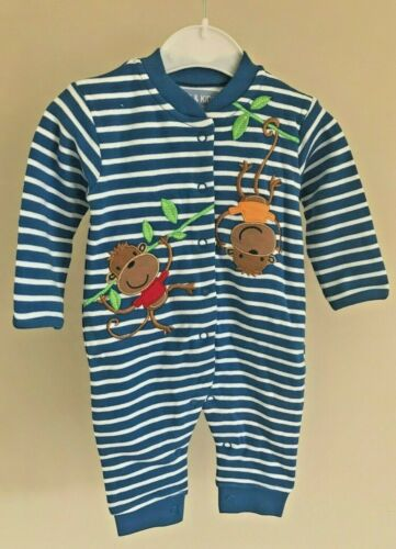 Ex Store Baby Boys Animal Applique Sleepsuits Babygrow Age NB 3 6 9 12 18 Months