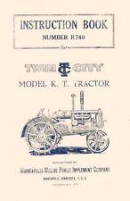 Minneapolis Moline Twin City K T Kt Operators Manual