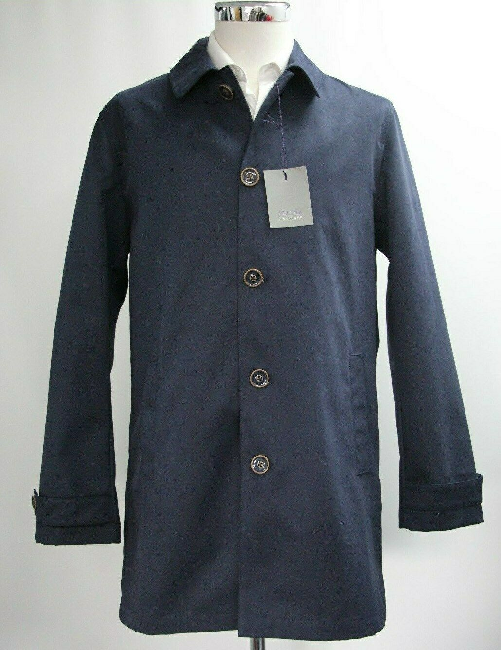 Men's Fellini Tailored Navy bluee Coat (M).. Sample 4171