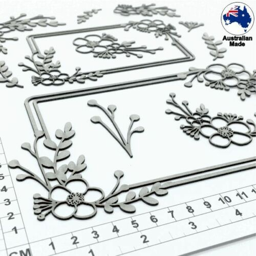 Cardmaking Wildflowers 24073 Chipboard Embellishments for Scrapbooking