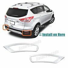 Accessories Chrome Rear Fog Light Covers Trims For 2013-2017 Ford Escape