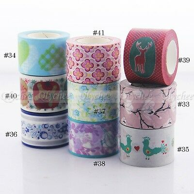 3 cm Width Christmas Washi Tape DIY Scrapbooking Stickers Decorative Sticky Tape