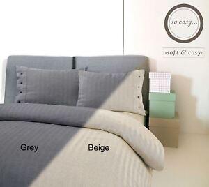 Herringbone-Woven-100-Cotton-Flannel-Duvet-Cover-Bedding-Set-Single-Double-King