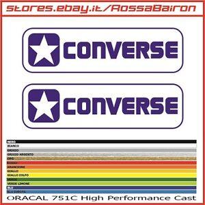39dee5532dbae9 KIT 2 ADESIVI CONVERSE 2 ALL STAR mm.100xmm.28 - DECALS AUFKLEBER ...