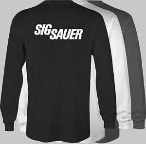 SIG SAUER Firearms Retro LONGSLEEVE T-Shirt rifle pistol gun