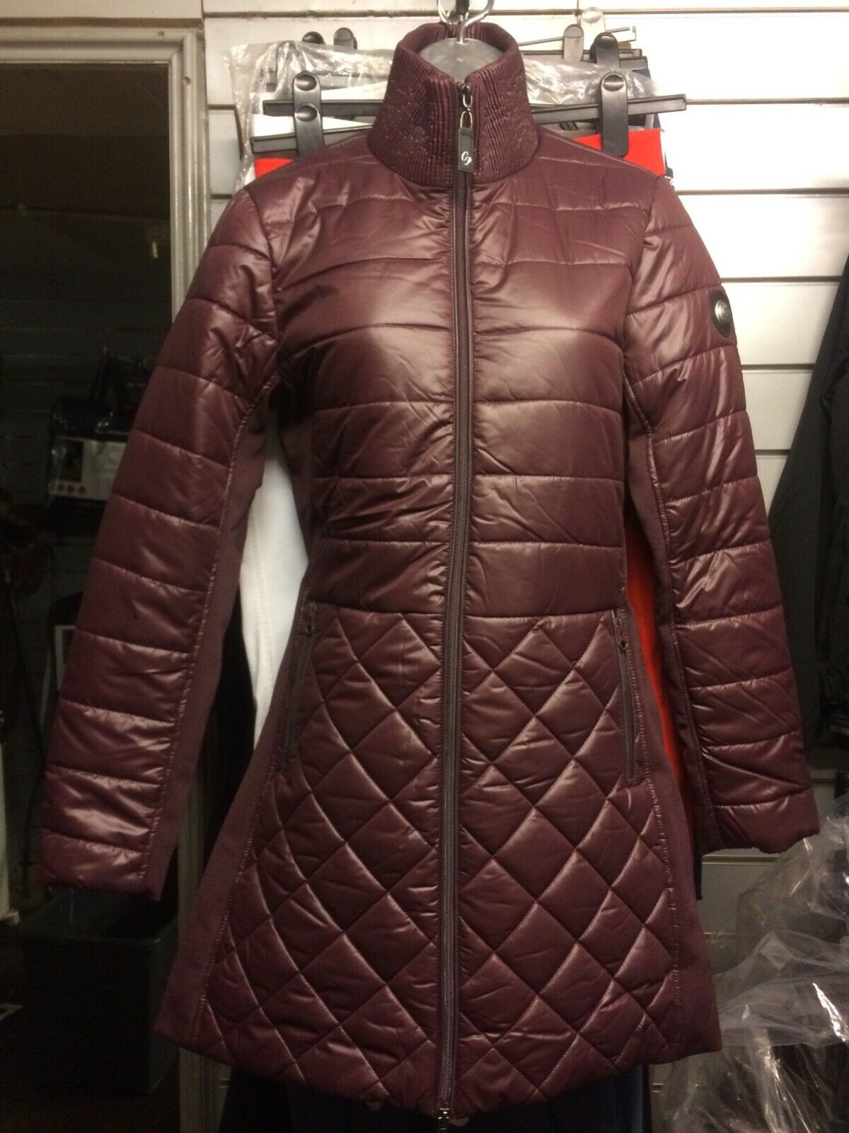 Riding coat with bag zip opening very stylish Größe small and medium