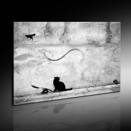 Banksy Graffiti Art Mouse Leinwandbild Kunstdruck Wandbild Leinwanddruck  #701