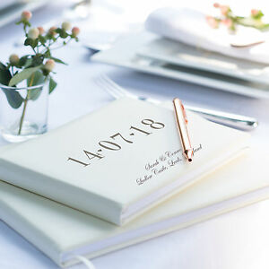 Special-Date-Guest-Book-Ivory-Leather-Guest-Book-Wedding-Anniversary-L1B2-3