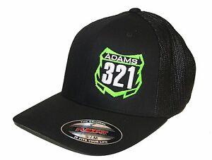 18772e25dff CUSTOM MX NUMBER PLATE HAT JUST RIDE FLEXFIT CAP MOTO MOTOCROSS MESH ...