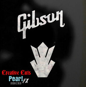 Gibson-amp-Crown-Headstock-Decal-MOP-Premium-Vinyl-Decal-Inlay-more-options