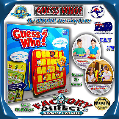 Hasbro Guess Who Classic The Original Guessing Board Game AU Post Brand New