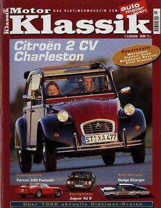 Angemessen Motor Klassik 11/00 2000 2cv Charleston Corre Glas 1700 Gt Dodge Charger Xj6 330 Blut NäHren Und Geist Einstellen Zeitschriften Auto & Motorrad: Teile
