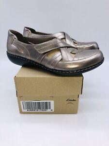 Ashland Rosa Slip-Ons Pewter Leather