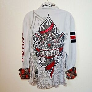 Rebel Spirit Gray  Royalty Shirt  Men's Medium