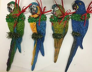 Parrot Christmas Ornament Macaw Hyacinth Blue-Throated Severe Hahn's ...