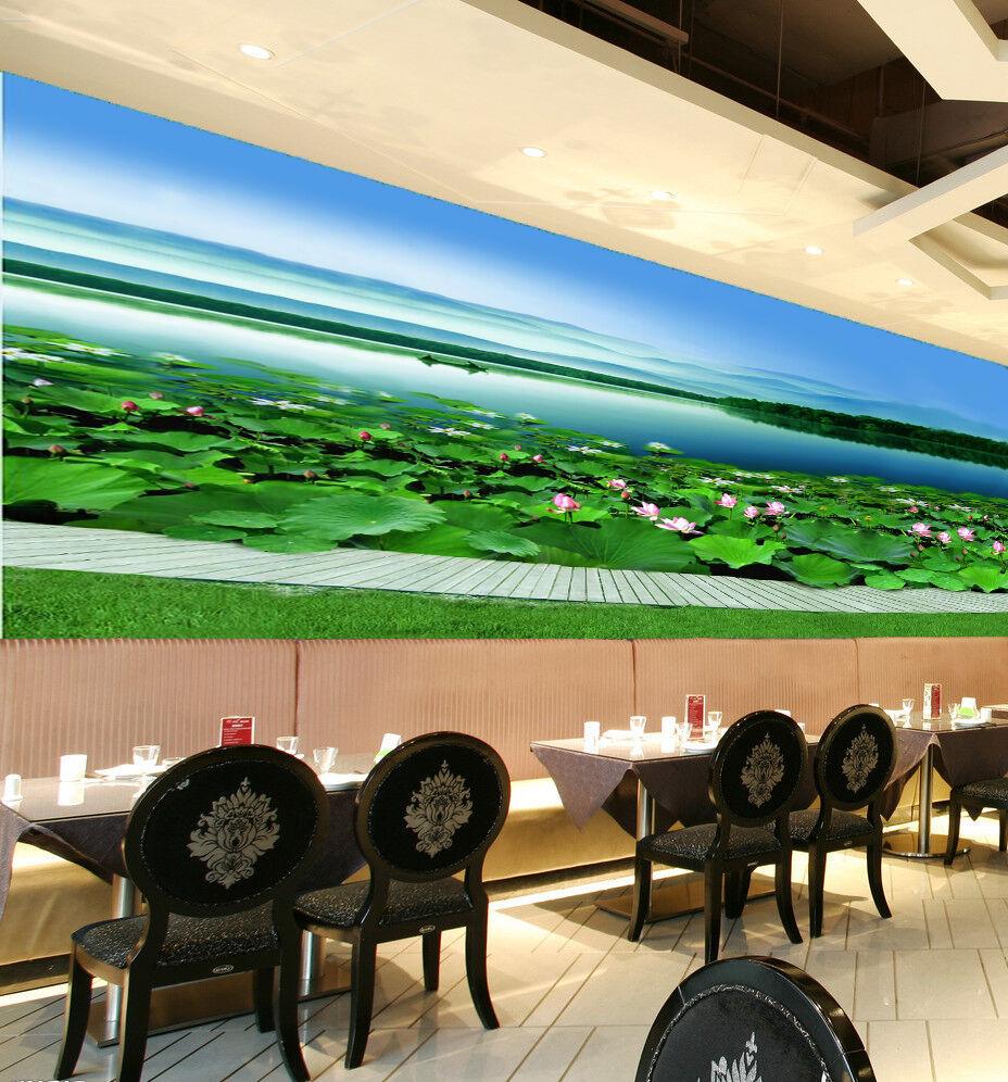 3D Fresh Green Lotus Pond 578 Wall Paper Wall Print Decal Wall AJ WALLPAPER CA