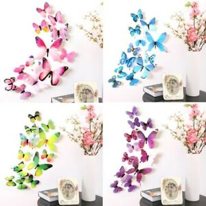 12-x-3D-Decal-Colourful-Butterflies-Wall-Stickers-Home-Decor
