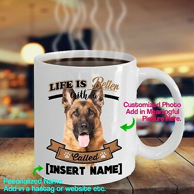 Personalized German Shepherd Coffee Mug Life Better Dog Unique Cute Ceramic Cup Ebay