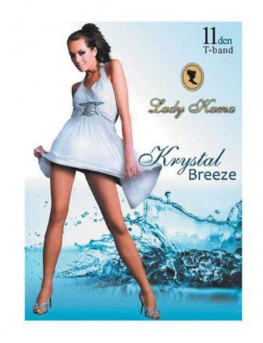"""con funzione Kühlender 1 paia Krystal-BREEZE /""""da Donna Collant Sottili Naturali 11den"""